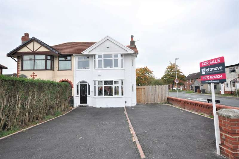 3 Bedrooms Semi Detached House for sale in Blackpool Road, Lea, Preston, Lancashire, PR2 1XP