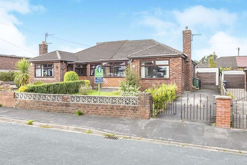 2 Bedrooms Semi Detached Bungalow for sale in Moorland Road, Ashton-In-Makerfield, Wigan, WN4