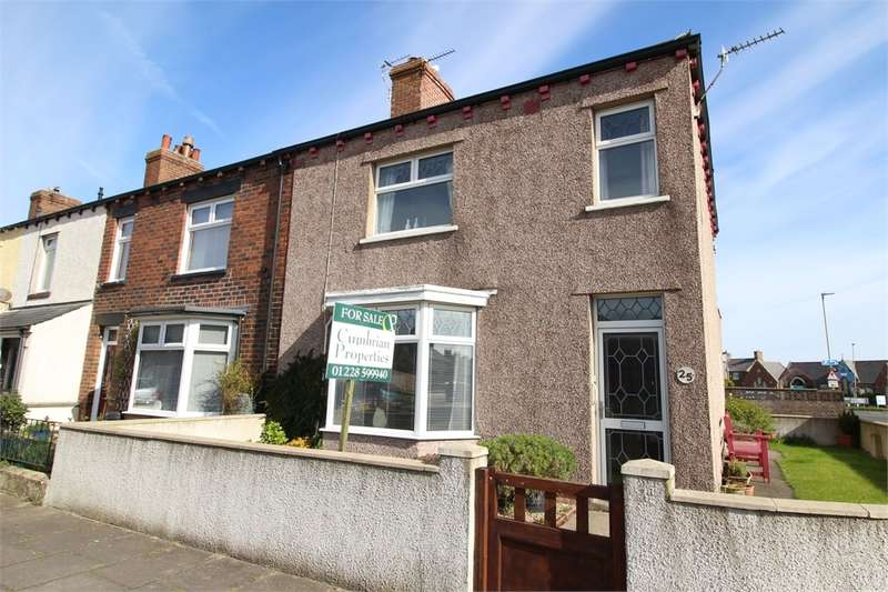 3 Bedrooms End Of Terrace House for sale in CA7 4DF Waver Street, Silloth, Wigton, Cumbria