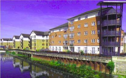 1 Bedroom Flat for sale in Riverview House, Viersen Platz, Peterborough, Cambs