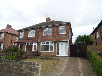 3 Bedrooms Semi Detached House for sale in Marjorie Road, Chaddesden, Derby, Derbyshire