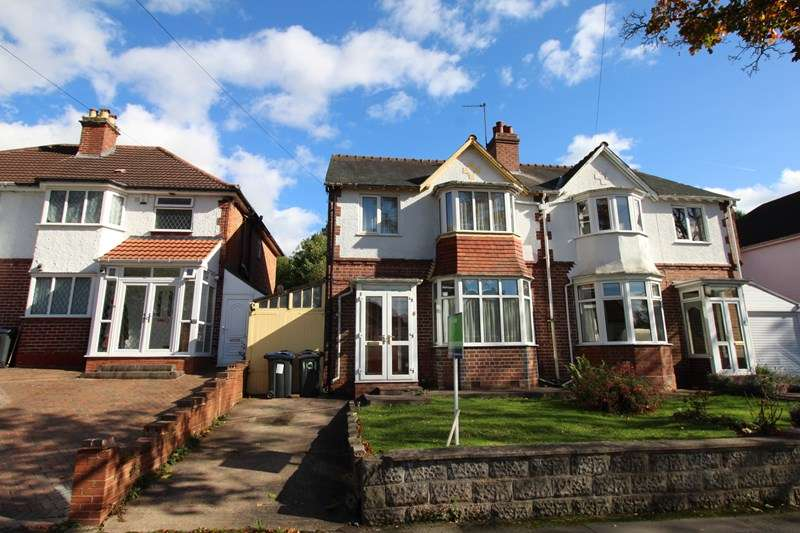 3 Bedrooms Semi Detached House for sale in Cole Valley Road, Hall Green, Birmingham