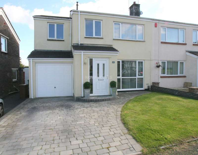 4 Bedrooms Semi Detached House for sale in Corfe Avenue, Hartley Vale, PL3 5SQ