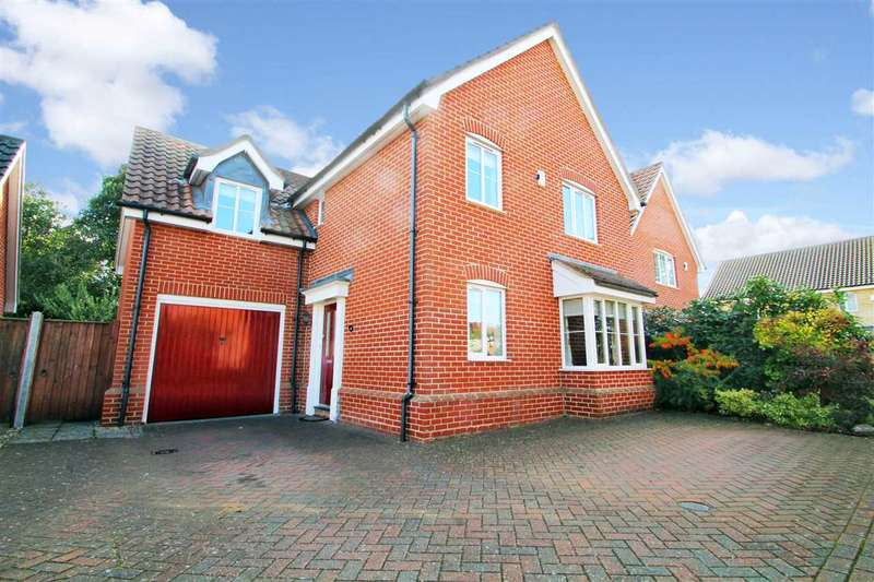 4 Bedrooms Detached House for sale in Foxley Close, Ipswich