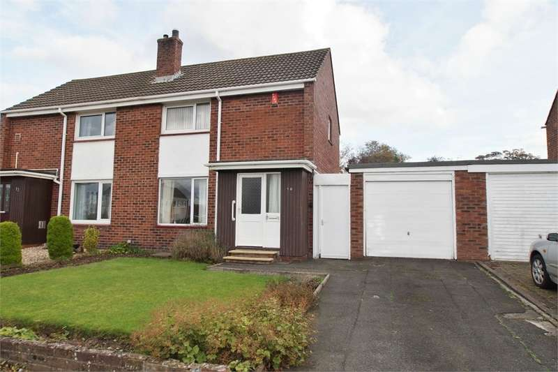 2 Bedrooms Semi Detached House for sale in CA2 6HD Wansfell Avenue, Carlisle, Cumbria