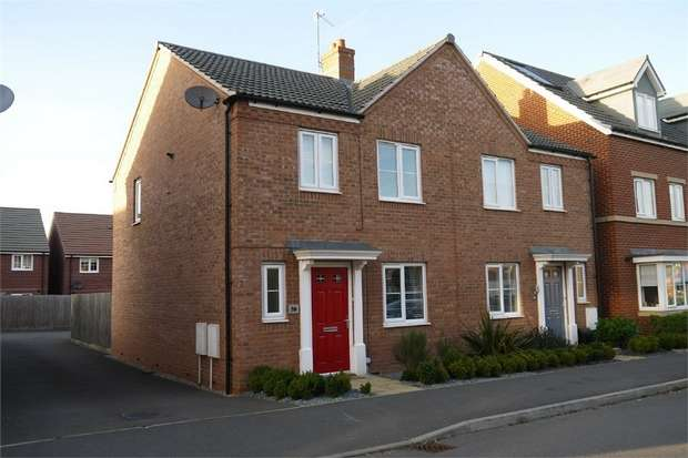 3 Bedrooms Semi Detached House for sale in Freshman Way, Market Harborough, Leicestershire