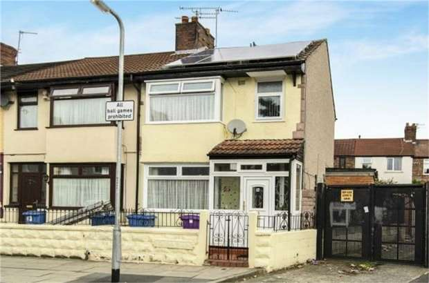 3 Bedrooms End Of Terrace House for sale in Heliers Road, Liverpool, Merseyside