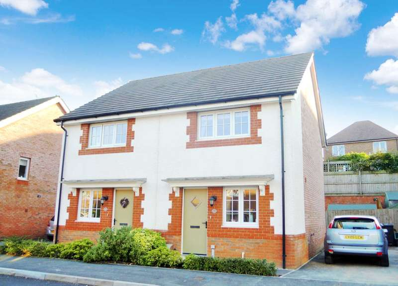 2 Bedrooms Semi Detached House for sale in Clover Way, Newton Abbot