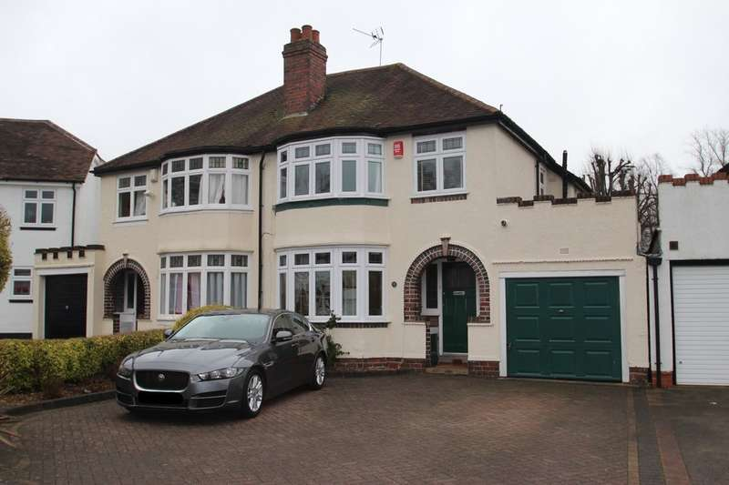 3 Bedrooms Semi Detached House for sale in Stapylton Avenue, Harborne
