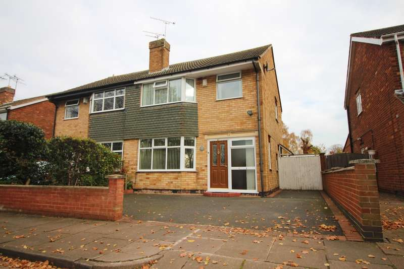 3 Bedrooms Semi Detached House for sale in Spencefield Drive, Evington, LE5