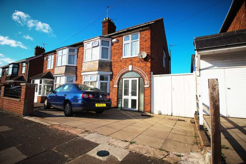 3 Bedrooms Semi Detached House for sale in Clumber Road, Evington, LE5