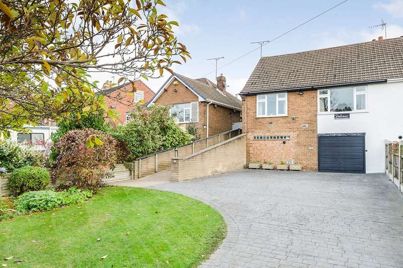 2 Bedrooms Semi Detached Bungalow for sale in Tibshelf Road, Holmewood, Chesterfield, S42