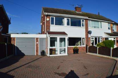 3 Bedrooms Semi Detached House for sale in Micklehome Drive, Alrewas, Burton Upon Trent