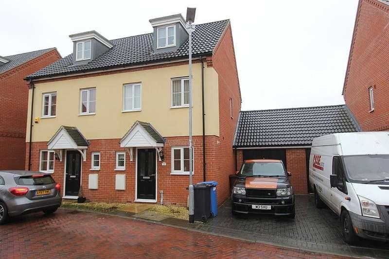 3 Bedrooms Semi Detached House for sale in Malkin Close, Ipswich, Suffolk, IP1 6FE