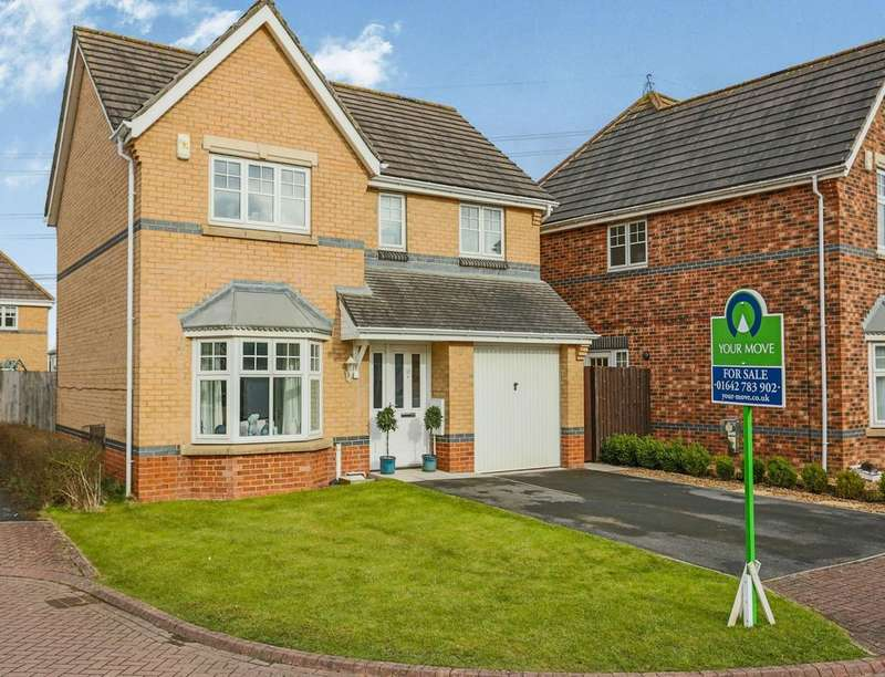 4 Bedrooms Detached House for sale in Middleton Close, Eaglescliffe, Stockton-On-Tees, TS16