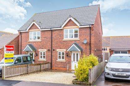 2 Bedrooms Semi Detached House for sale in Walter Close, Great Glen, Leicester, Leicestershire