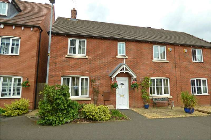 4 Bedrooms Semi Detached House for sale in Applebees Walk, Hinckley, LE10