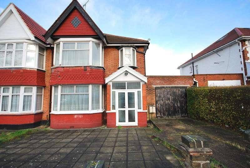 3 Bedrooms Semi Detached House for sale in KINGSWAY, WEMBLEY, MIDDLESEX, HA9 7QR