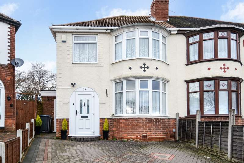 3 Bedrooms Semi Detached House for sale in Grigg Grove, Northfield, Birmingham, B31