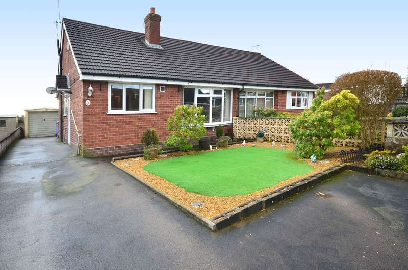 3 Bedrooms Semi Detached Bungalow for sale in Heathcote Rise, Weston Coyney, ST3 6PW