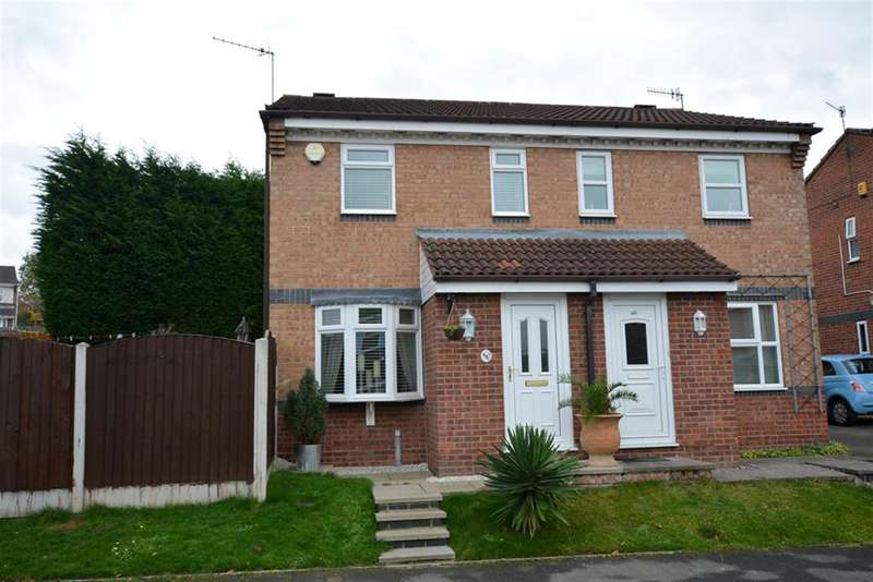 2 Bedrooms Semi Detached House for sale in Herriot Drive, Chesterfield, S40 2UR