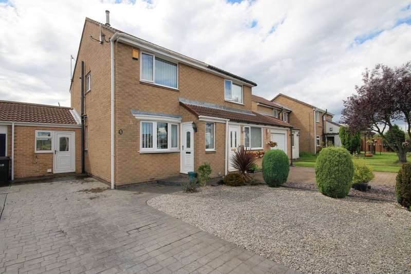 2 Bedrooms Semi Detached House for sale in Bradley Close, Ouston, Chester Le Street, DH2
