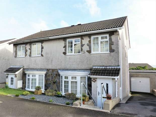 3 Bedrooms Semi Detached House for sale in Ty Gwyn Drive, Brackla, Bridgend, Mid Glamorgan