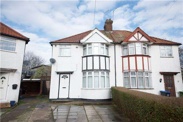 3 Bedrooms Semi Detached House for sale in Green Close, KINGSBURY, NW9 8AT