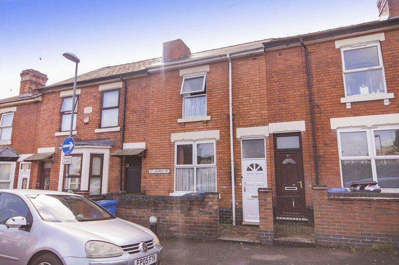 2 Bedrooms Terraced House for sale in ST JAMES ROAD, DERBY.