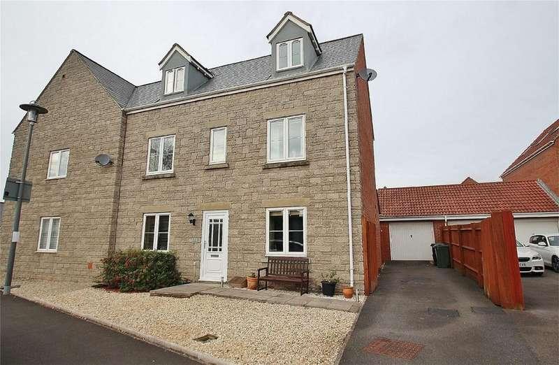 4 Bedrooms Semi Detached House for sale in Marjoram Way, Portishead, Bristol