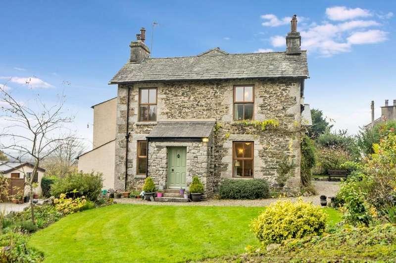 4 Bedrooms Semi Detached House for sale in Sunset House, School Hill, Lindale, Grange-over-Sands, Cumbria, LA11 6LE