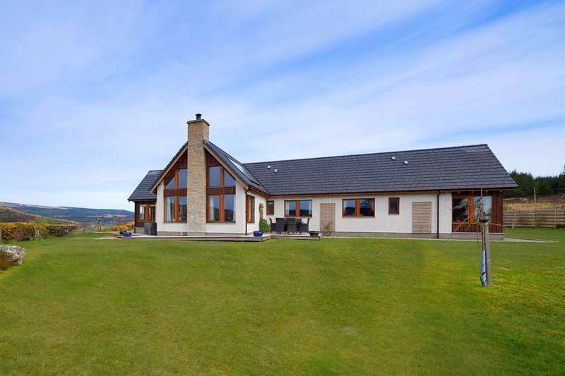 3 Bedrooms Detached Bungalow for sale in Ghillies View, Strathoykel, Ardgay, IV24