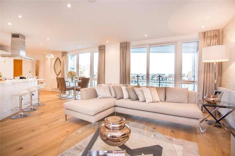 3 Bedrooms Flat for sale in Alexandra Wharf, 2 Maritime Walk, Ocean Village, Southampton, SO14