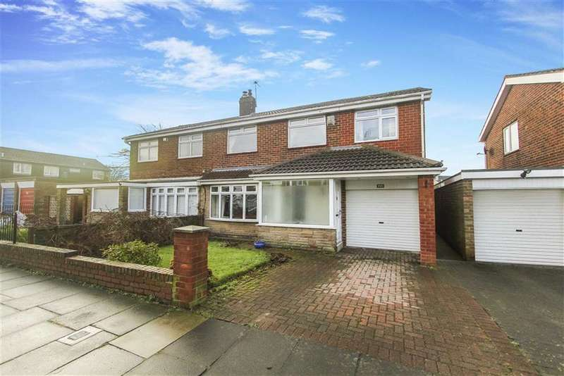 4 Bedrooms Semi Detached House for sale in Tilmouth Avenue, Holywell, Tyne And Wear