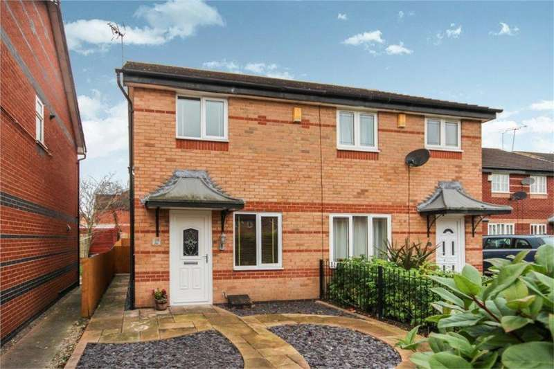 2 Bedrooms Semi Detached House for sale in Kintyre Drive, Sinfin, DERBY