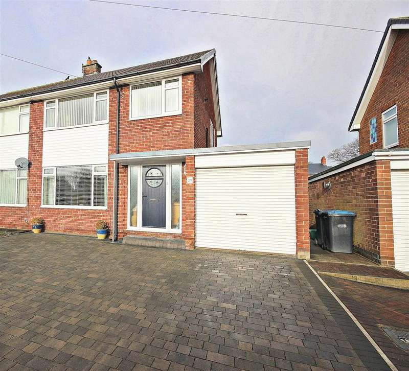 3 Bedrooms Semi Detached House for sale in Heathmeads, Pelton, Chester Le Street