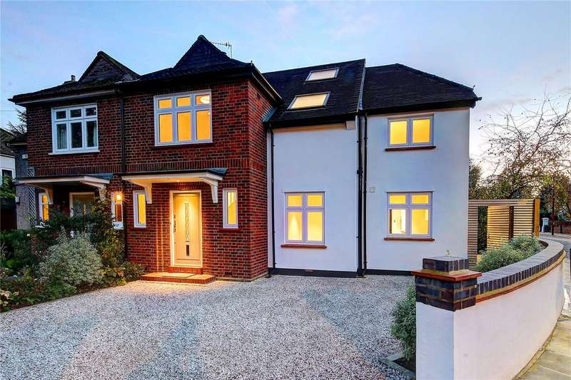 5 Bedrooms Semi Detached House for sale in Burtons Road, Hampton Hill, TW12