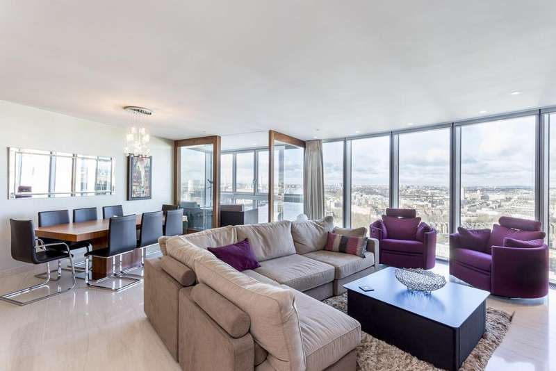 3 Bedrooms Flat for rent in The Tower, St. George Wharf, Vauxhall, London, SW8