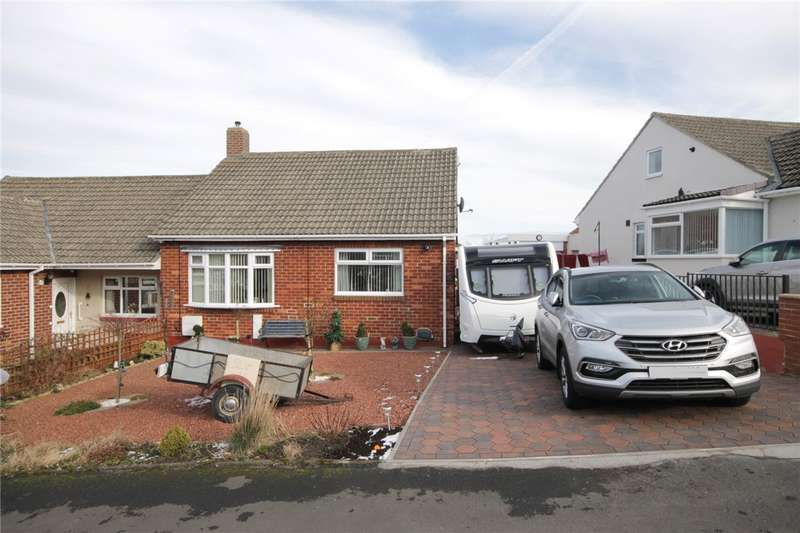 2 Bedrooms Semi Detached Bungalow for sale in Wharnley Way, Castleside, Consett, DH8