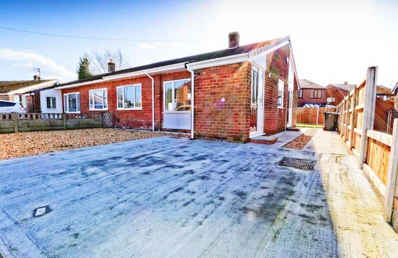 2 Bedrooms Semi Detached Bungalow for sale in 6 Walmesley Drive, Ince, Wigan