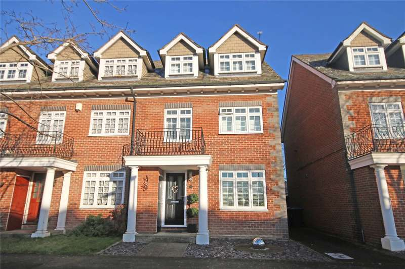 4 Bedrooms End Of Terrace House for sale in Millpond Court, Addlestone, Surrey, KT15