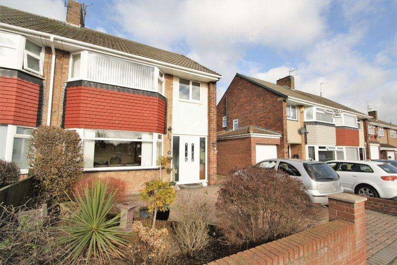 3 Bedrooms Semi Detached House for sale in NO CHAIN - Wellburn Road, Fairfield, TS19 7PR