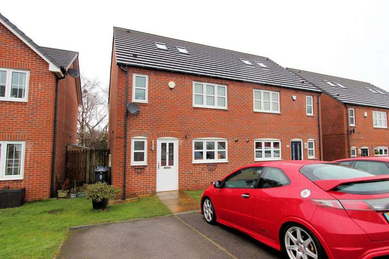 3 Bedrooms Semi Detached House for sale in Green Brook Place, Penistone, Sheffield