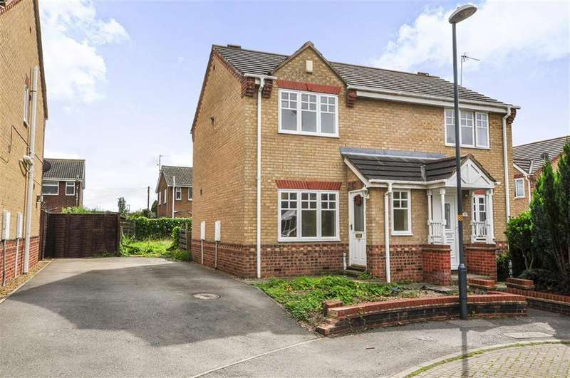 2 Bedrooms Semi Detached House for sale in Topcliffe Court, Selby, YO8 3WB