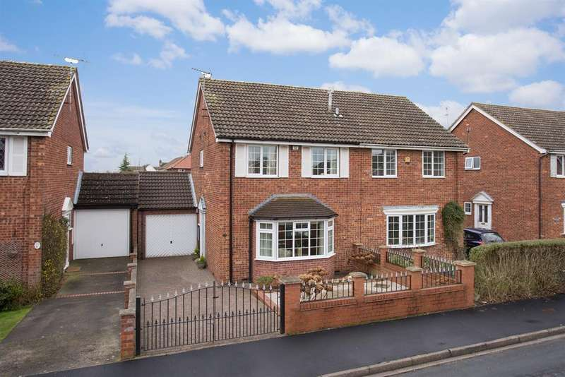 3 Bedrooms Semi Detached House for sale in Burrill Drive, Wigginton, York, YO32 2ST