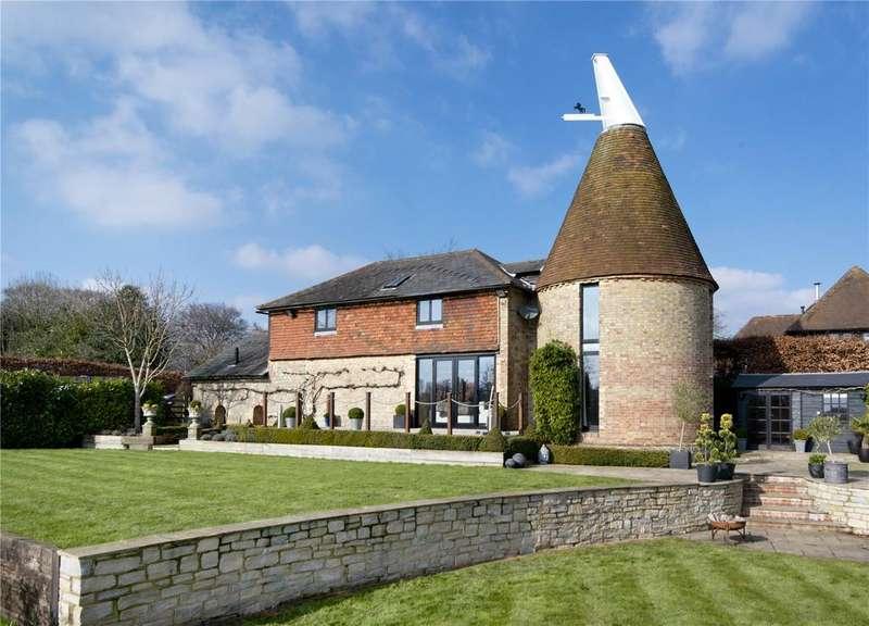 4 Bedrooms Detached House for sale in Nightingale Lane, Ide Hill, Sevenoaks, Kent, TN14