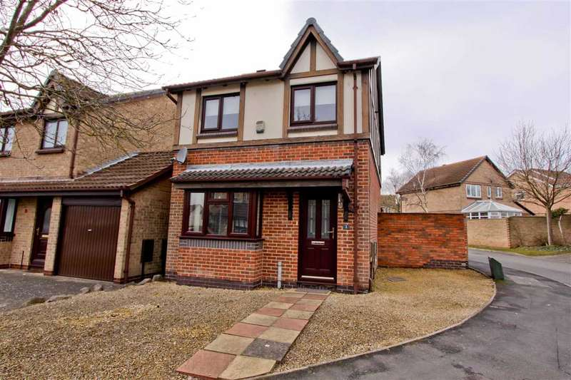 3 Bedrooms Detached House for sale in Laundon Close, Groby, Leicester