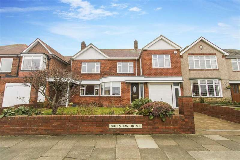 4 Bedrooms Detached House for sale in Millview Drive, Tynemouth, Tyne And Wear
