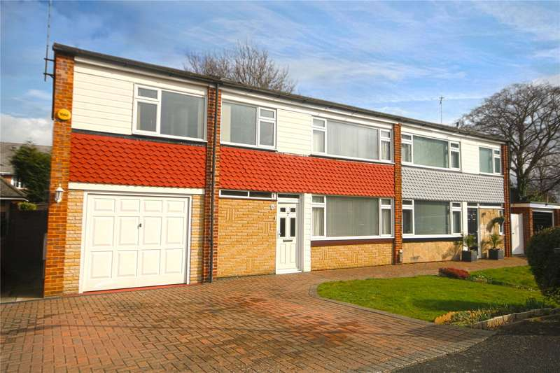 4 Bedrooms Semi Detached House for sale in Crockford Close, Addlestone, Surrey, KT15