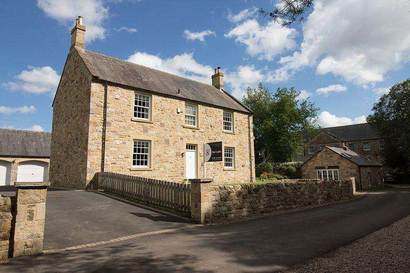 4 Bedrooms Detached House for sale in Netherwitton Village, Morpeth